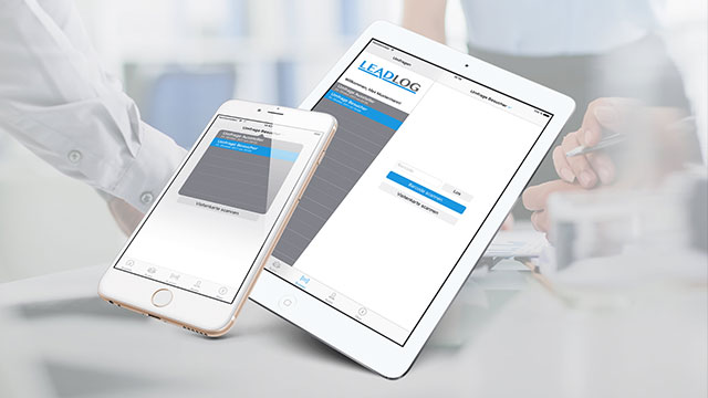 LeadLog Ansicht in iOS Devices