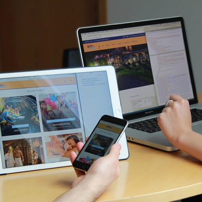 Screenshot der Webseite Calypso auf Tablet und Handy