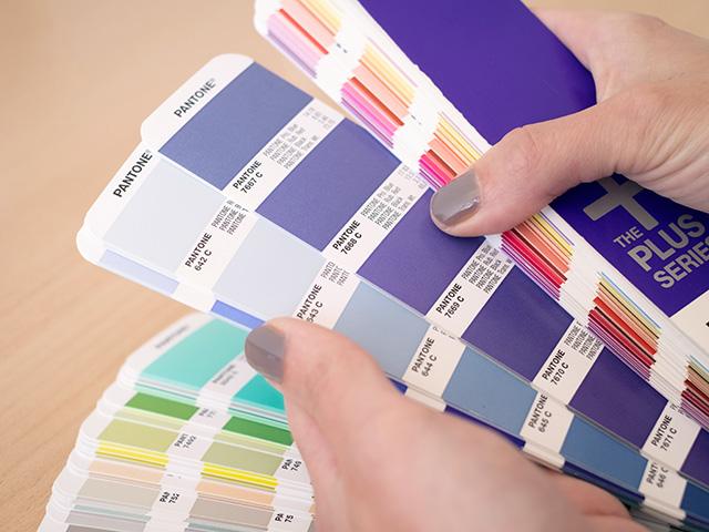 Farbfächer für Print Design