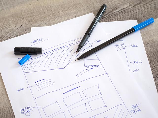 Notizblock mit Scribble Zeichnung von Screendesign