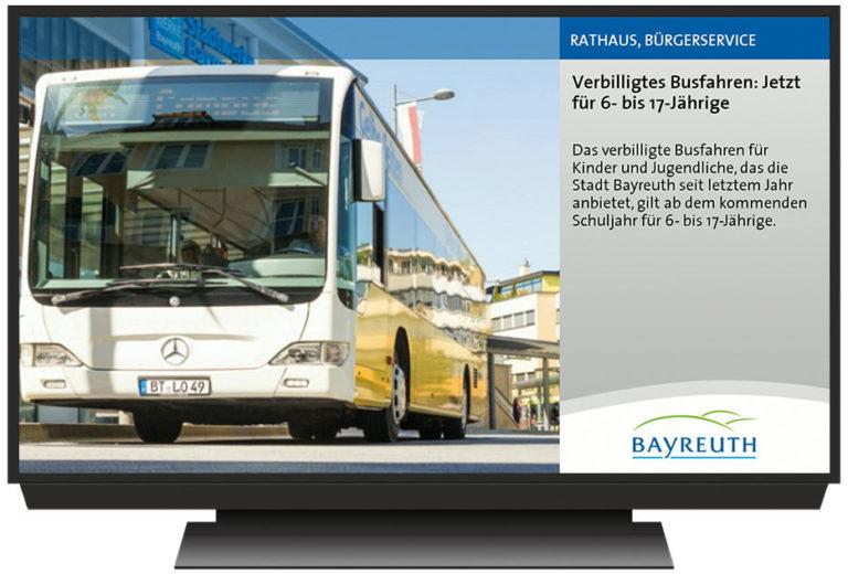 Sigmondo Fernsehbildschirm Stadt Bayreuth