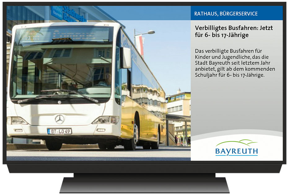 Digital Signage made in Bayreuth
