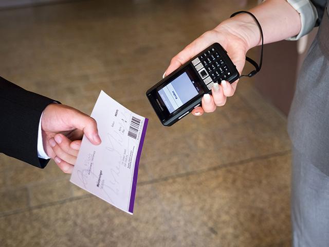 Opticon Ticket-Scanner für das Ticketing der Bayreuther Festspiele