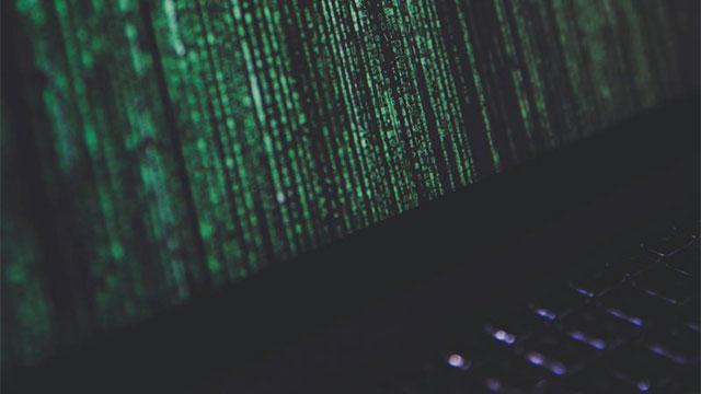 Ransomware Matrix Bildschirm Hintergrund