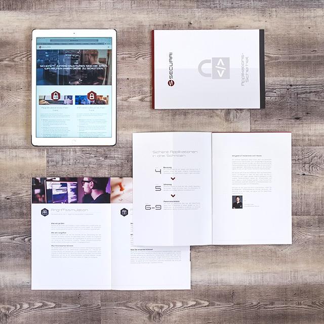 Securai Broschüre und Website