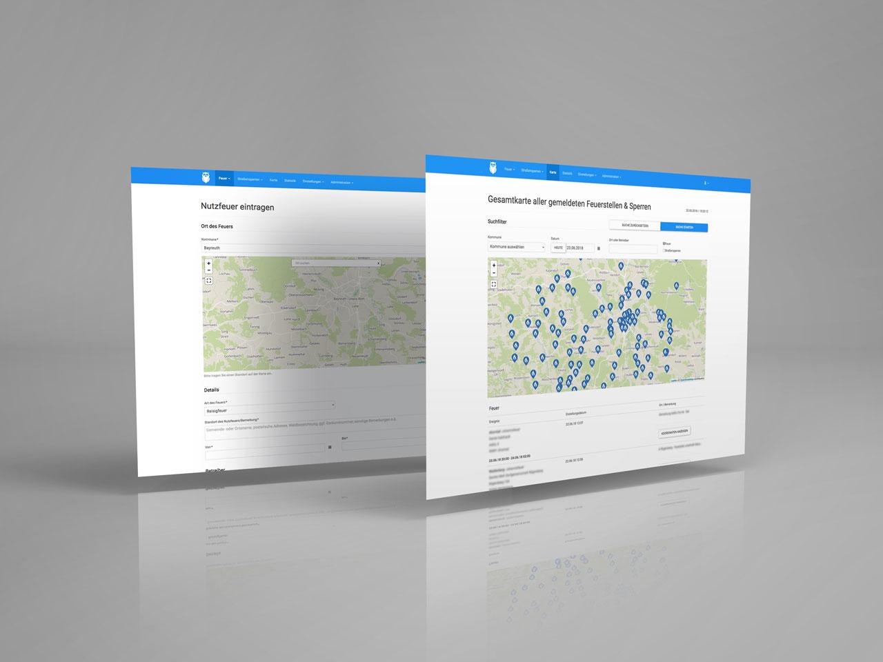 Screenshots der VuFIS-Anwendung
