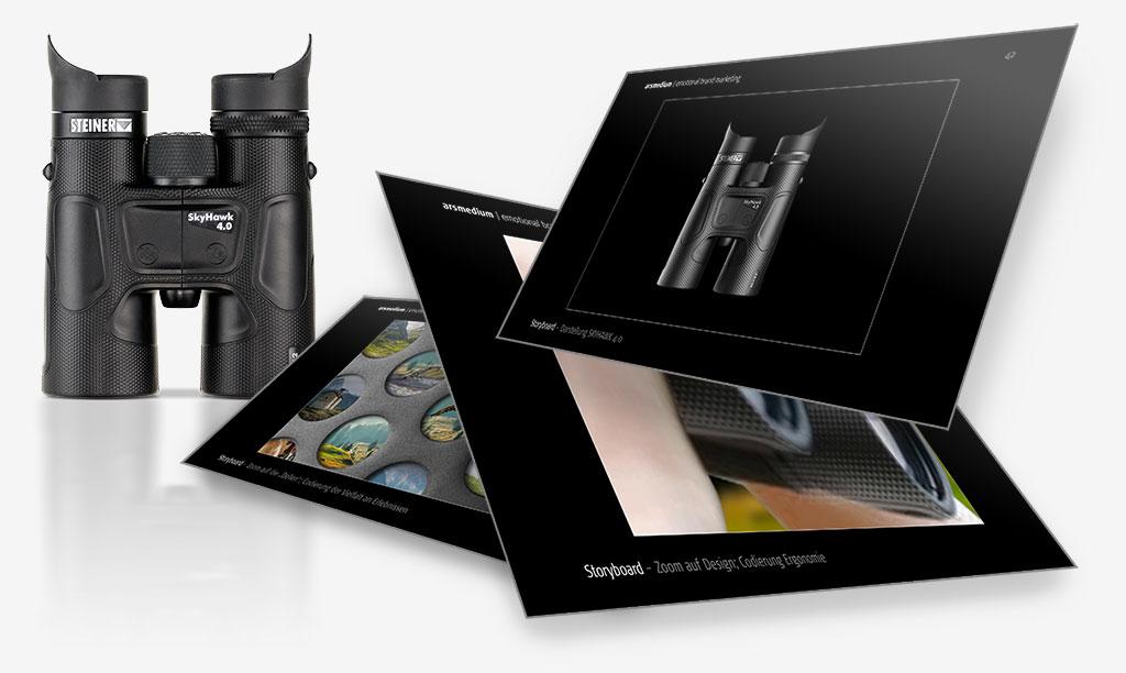 Produktfoto und Konzeptausschnitte
