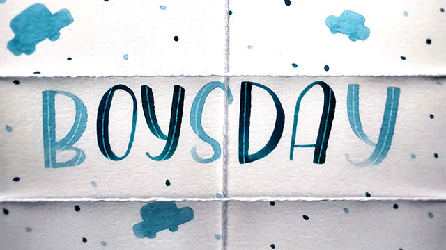 Boysday Lettering