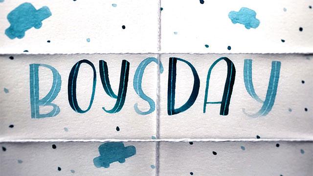 Boysday Lettering
