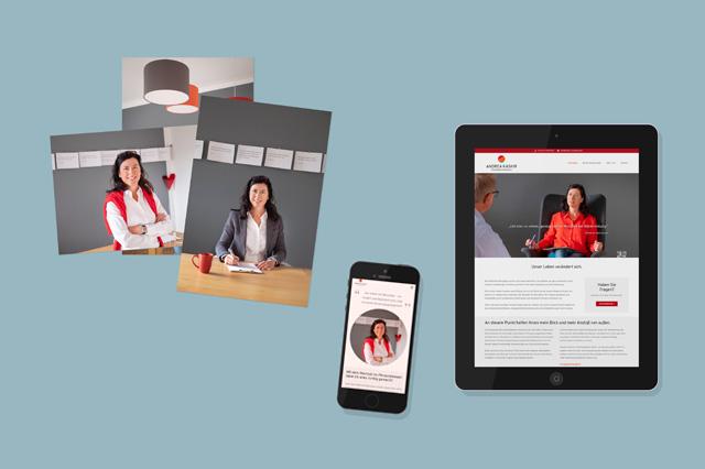 Praxisausstattung: Fotoshooting, responsive Website