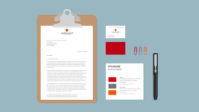 Geschäftsausstattung: Styleguide, Briefpapier, Visitenkarten