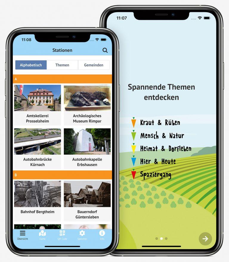 Konnis Tour App - Übersicht der Stationen und Themengebiete