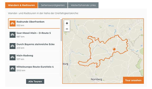 Webportal Markgrafenkirchen Ausgabe der Touren