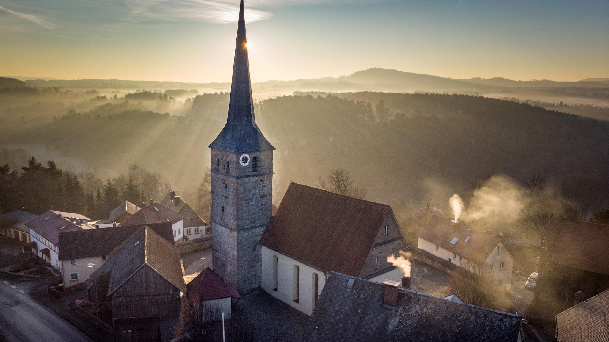 Mistelbach St. Bartholomäus Luftaufnahme